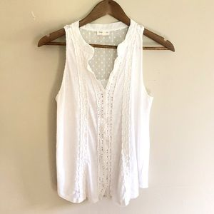 Anthropologie Meadow Rue Crochet Lace Tank Top